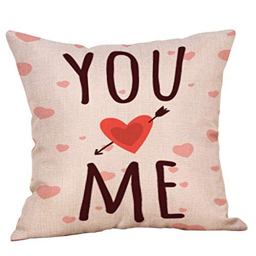 Zimuuy, Love Funda de Almohada, Happy Valentine Funda de ...