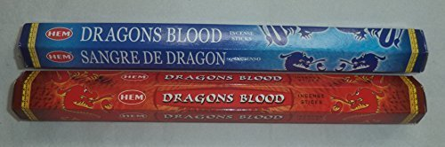 Hem Dragons Blood & Dragon's Blood Blue Incense Combo: 2 x 20 Stick = 40 Sticks