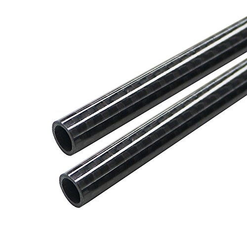ARRIS 6mm x 8mm x 500mm 3K Roll Wrapped 100% Carbon Fiber Tube Glossy Surface (2PCS)