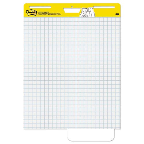 Self-Stick Easel Pads, Quad Rule, 25 x 30, White, 2 30-Sheet Pads/Carton, Sold as 2 Pad