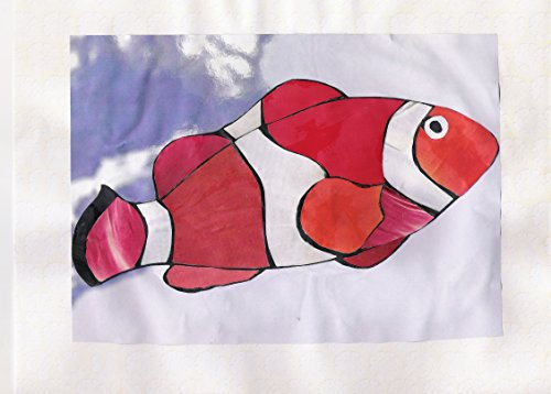 Clown Fish Cut Paper, Recycled Paper Original Collage Art -