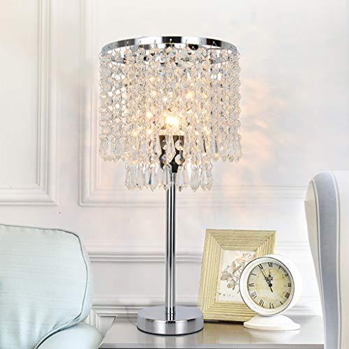 Sodoop Crystal Table Lamp, Nightstand Lamp with Elegant