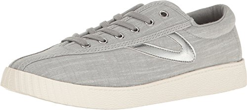 (Tretorn Women's Nylite Plus Grey/Grey/Silver 12 B US)