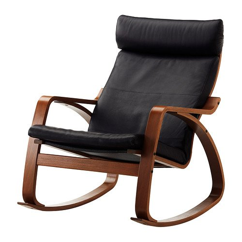 Ikea Poang Rocking Chair Medium Brown With Robust Black