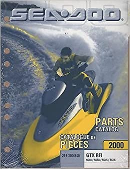2000 sea doo watercraft gtx rfi parts manual p/n 219 300 840 (767):  manufacturer: amazon com: books