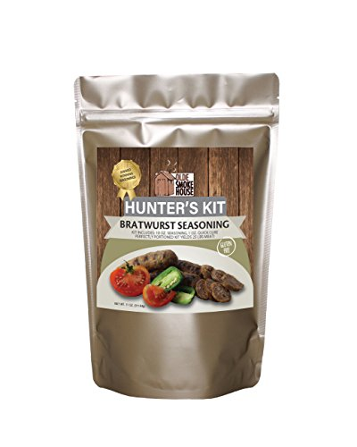 Hunter's Kit (Bratwurst, 11). Kit includes 10 oz. Seasoning, 1 oz. Quick Cure. Gluten Free. Excellent for curing or preserving pork, beef and wild game meats. (Curing Kit)