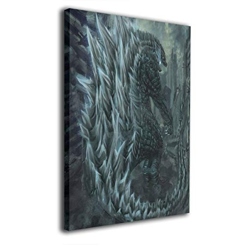 Little Monster Godzilla 2 King of The Monsters 2019 Inner Framed Painting On Canvas Wall Decor Comics Art for Childrens Bedroom 16x36in