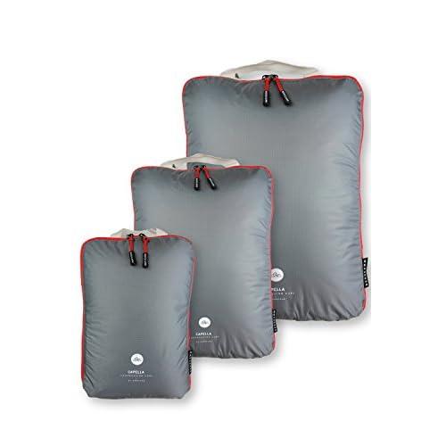 NORDKAMM Organisateur de valise, organisateurs de voyage, organiseurs de bagage, sac de compression voyage, packing cubes, seul ou en ensemble, léger, avec glissière pour compresser le contenu