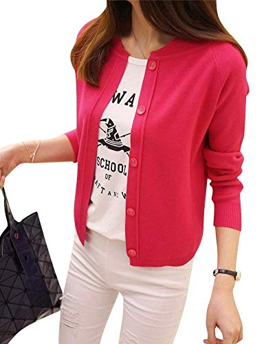De Elégante Fashion En Outerwear Printemps Uni Confortables Bonne Qualité Femme Automne Long Pullover Tricoter Simple Manche Jacket Boutonnage Mode Veste Tricot Rose Chic Manches Casual Hqw6dWgAXX