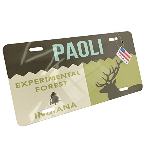 Metal License Plate National US Forest Paoli Experimental Forest - Neonblond - Paoli Metal
