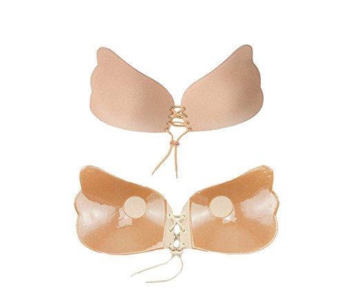 up Butterfly farfalla stringe con Bra adesivo push B Reggiseno WAVE effetto store a MEDIA Beige 4203 qFXPwYX