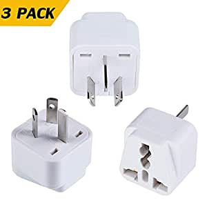 Travel Adapter, IGUGIG Universal US EU UK to Australia/China New Zealand Grounded Travel Plug Kit Adapter for iPhone, iPad, Samsung, Huawei, Android Phones, Tablets Digital Cameras and More -3 Pack