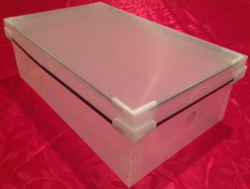 20 Pack Plastic Shoe Size Storage Top Lid Boxes Container...