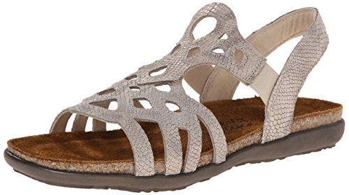 Naot Footwear Women's Rebecca Sandal,Beige Snake Leather,41 EU/9.5 - 10 M US by NAOT