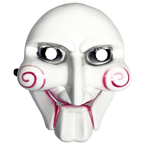 Diona J Jigsaw Saw Billy Puppet Face Mask Guy Halloween Cosplay Anonymous White Mask