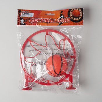 バスケットボールゲームW / Suction Cups 6.75 in Net 2 inボールPRTD PLST PB、ケースパックof 24 B0711M2MD7
