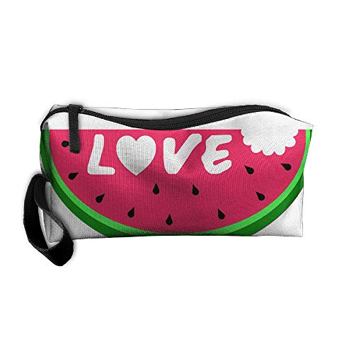 Jessent Coin Pouch Watermelon Pen Holder Clutch Wristlet Wallets Purse Portable Storage Case Cosmetic Bags Zipper -
