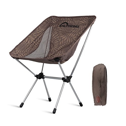 Lightweight Portable Folding Camping Chairs, 330 lbs Capacity Backpacking Beach Chair w/ Carry Bag Compact Heavy Duty Outdoor Travel Sports Lawn Chairs Unique for Hiking Fishing Picnic Coffee -ALPRANG