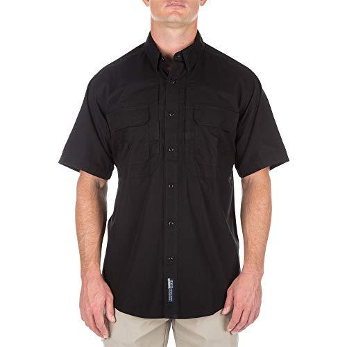 5.11 Tactical Cotton Tactical Short Sleeve Shirt, Black, XX-Large