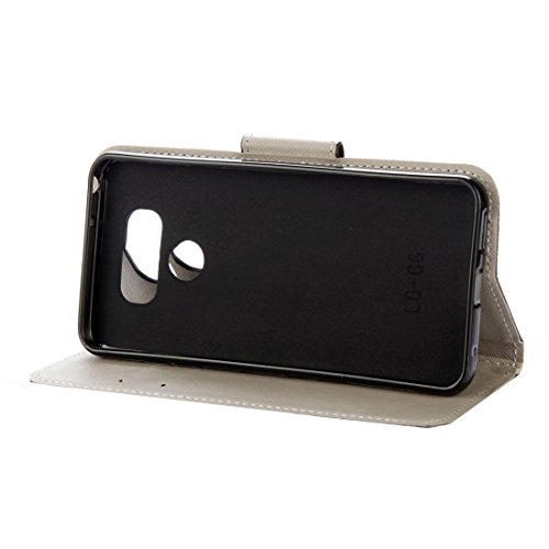 SRY-Phone protection case Para LG G6 Purple Crystal Butterflies Patrón horizontal Flip Funda de cuero con soporte y tarjetas Slots & Wallet ( SKU : Mlc6954a ) Mlc6954d