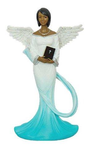 (Sash Angel in Cyan African American Angel Statue)