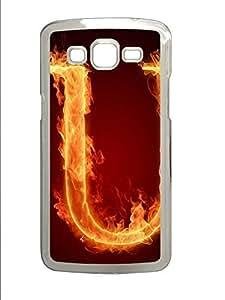 Samsung 2 7106 Case Fire Letter U PC Custom Samsung 2 7106 Case Cover Transparent