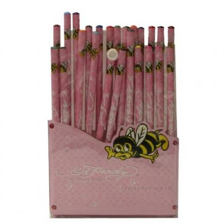 Ed Hardy Rose Color Bee Pencil Set - Pink
