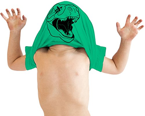 Toddler Ask Me About My Trex T Shirt Funny Cool Dinosaur Flip Up Tee for Kids (Green) - 5T from Crazy Dog T-Shirts