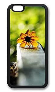 MOKSHOP Cute nature flower colorful 5s Soft Case Protective Shell Cell Phone Cover For Apple Iphone 6 (4.7 Inch) - TPU Black