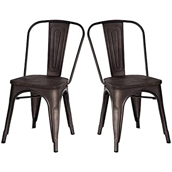 Poly And Bark Tolix Style Bistro A Dining Side Chair