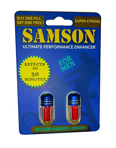 Samson | Ultimate Performance Enhancer for Man | 2 Capsule | Effects in 30 Minutes | Testosterone Booster | 100% Satisfaction Guarantee ()