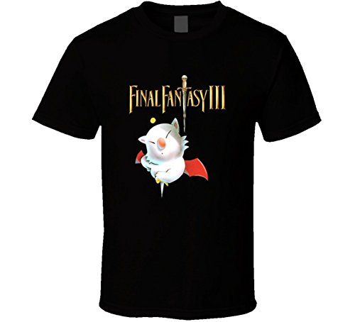 Final Fantasy 3 Retro Video Game T Shirt XL Black