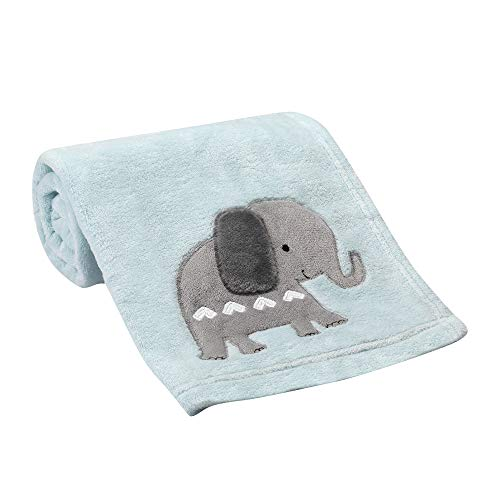- Bedtime Originals Jungle Fun Baby Blanket, Blue