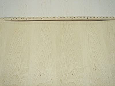 """Maple wood veneer 24""""x 48"""" with peel and stick (PSA) adhesive 1/40th"""" thick """"A"""""""