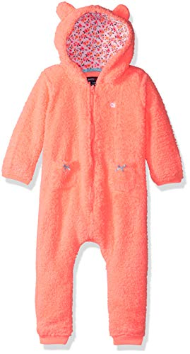 Limited Too Baby Girls Animal Print Zip Front Coverall, neon Orange -