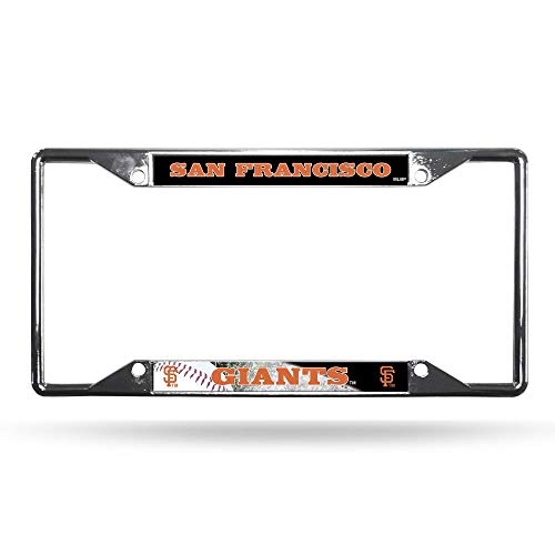 - Rico Industries MLB San Francisco Giants License Plate Frame Chrome Ez View, One Size, Team Colors