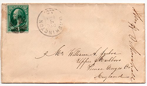 Us Postal Cover - US Postal Cover 1880's Canceled Dec,6 Washington, DC. With 3 Cent US Postage Stamp Scott #147