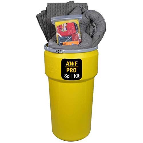 20 Gallon Universal Spill Kit, Pro Grade, 50 PC: Lever Lock Drum, 35 Heavy Duty Pads 15