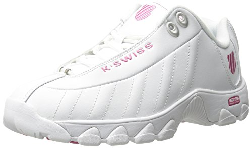 K-Swiss Women's ST329 CMF Trainer Lifestyle Sneaker, White/Shocking Pink, 7.5 M US