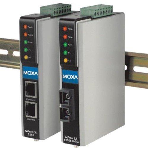 MOXA NPort IA-5150 1-Port RS-232/422/485 Serial IA Device Server, 10/100 Ethernet (RJ45)