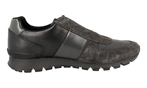 Prada Mens 4e2923 Oqw F0207 Läder Sneaker