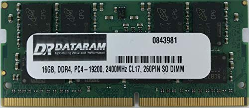 (DATARAM HIGH Performance 16GB DDR4 PC4-19200 2400MHz 260PIN SO DIMM Memory RAM)