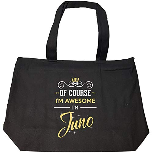 Of Course I'm Awesome I'm Juno Birthday Xmas Gift - Tote Bag With Zip