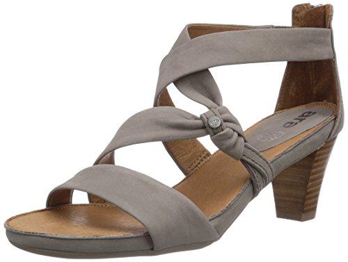 ara Rosso - Sandalias de vestir de cuero para mujer gris - Grau (grigio 10)