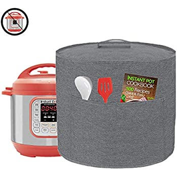 Appliance Cover Dust Cover Watetproof for 6 Quart Instant Pot,Electric Pressure Cooker,Rice cooker,Air Fryer and Crock Pot, Machine Washable (For 6 Quart Instant Pot, Grey)