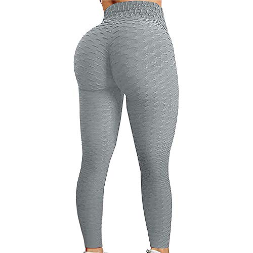 Yakuin High Waist Yoga Leggings for Women, Workout Exercise Pant Gray