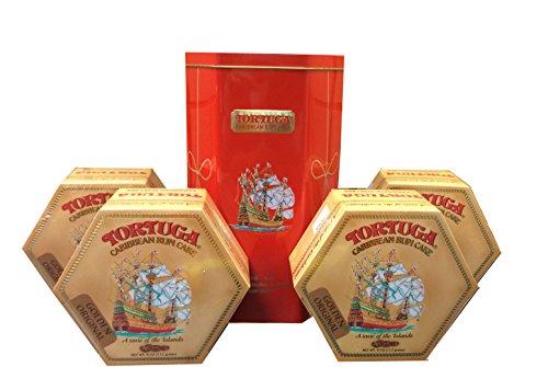 Tortuga Caribbean Golden Original Rum Cake Gift Pack 4oz - 4 Pack in Keepsake (Rum Cake)