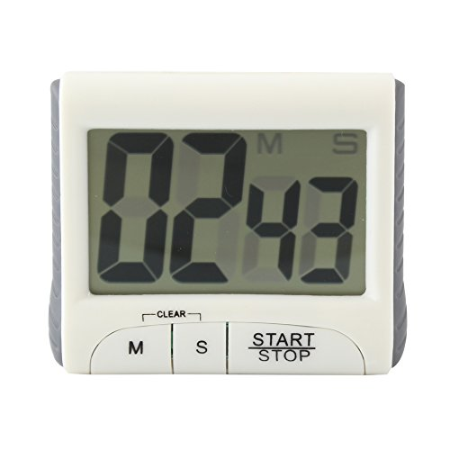 Magnetic Large LCD Screen Digital Kitchen Timer Alarm Count Up Down/White from unbrand