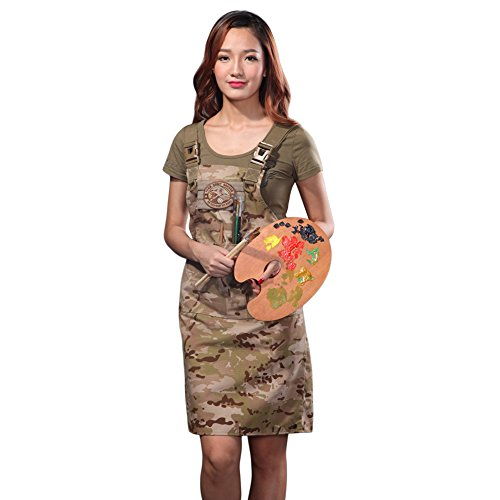 CyberDyer Male Female Tactical Working Apron with Tool Pockets Suitable for Outdoor Picnic and Daily Repair Work (Desert Camouflage) by CyberDyer (Image #3)