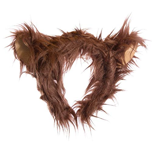 Wildlife Tree Plush Grizzly Bear Ears Headband Accessory for Grizzly Bear Costume, Cosplay or Forest Animal Costumes